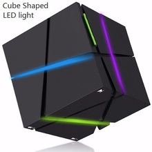 Q one Bluetooth Speakers Magic Cube Shape Wireless Speaker Portable Music Player Boombox AUX mini LED light speaker for iPhone