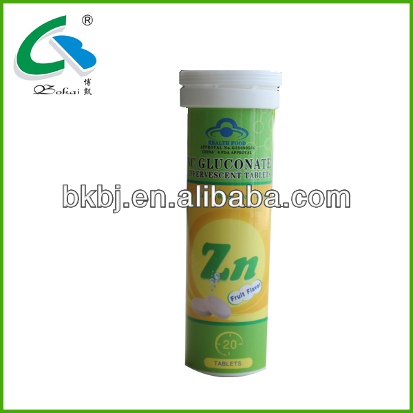 zinc energy drink tablet made in china effervescent tablet