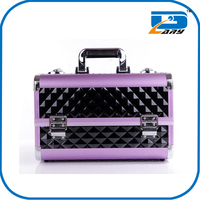 Professional aluminium makeup cosmetic artist mini beauty box/suitcase