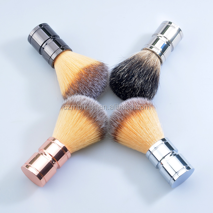 Wholesale price synthetic hair knots shaving brush with gun handle beard shave brush