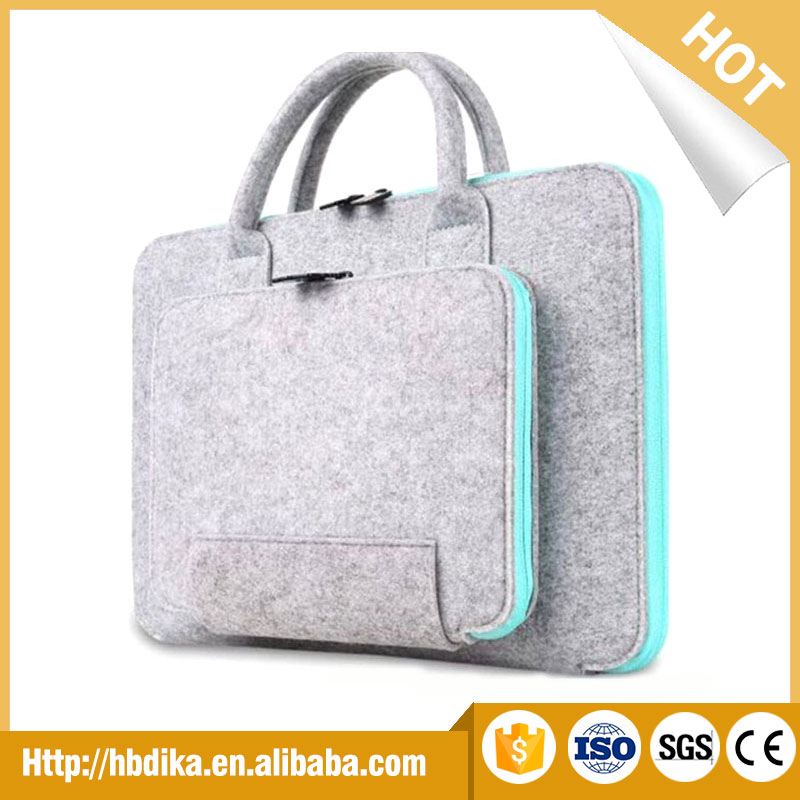 Wolesale perfect protection multifuctional felt laptop bag