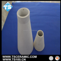 wearable alumina al2o3 ceramic cone shaped tube for hydrocyclone lining