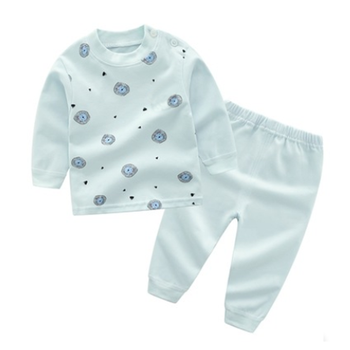 Wholesale high quality 100% cotton children pyjamas set