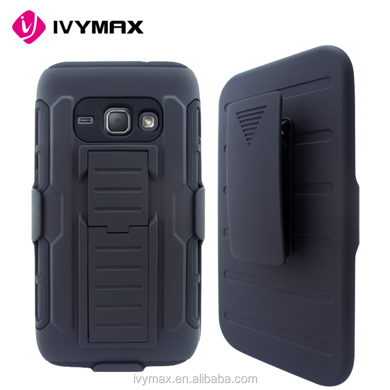 IVYMAX hot sell black rubberized plastic belt clip holster case for samsung J120 J1 2016 accesories para celulares