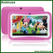 Promotion Birthday Gift Popular 7 inch Kids TAB tablet Children Games Tablet PC RK3026 QualCore PAD Android 4.4 MID