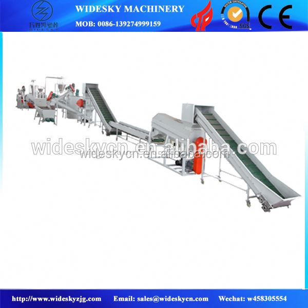 industrial plastic washing line/power cable making equipment/waste recycling plant