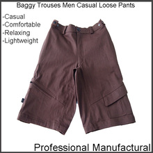 Custom new fashion comfortable soft cotton baggy multiple pocket casual mens 3/4 cargo shorts