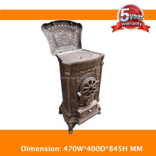 Indoor fireplace factory cast iron wood stove price china solid fuel burning log stove