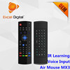 MX3 Air Mouse with Voice Function, 2.4Ghz Mini Wireless Keyboard MX3