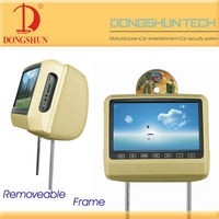 automobile removable headrest dvd player