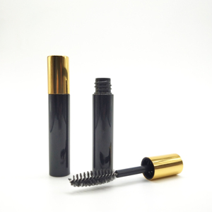 Most popular gold cap empty mini black mascara bottle container custom lash packaging tube with brush for makeup