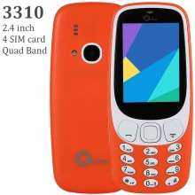 OEINA XP3310 3310 2.4 inch Quad Band Four 4 SIM Card Bluetooth FM Camera Old man Mini Basic Feature Senior GSM Mobile Cell Phone