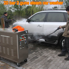 CE no boiler 18-30 bar 2 guns diesel portable steam car washer/mobile vapor used vacuum cleaner for sale