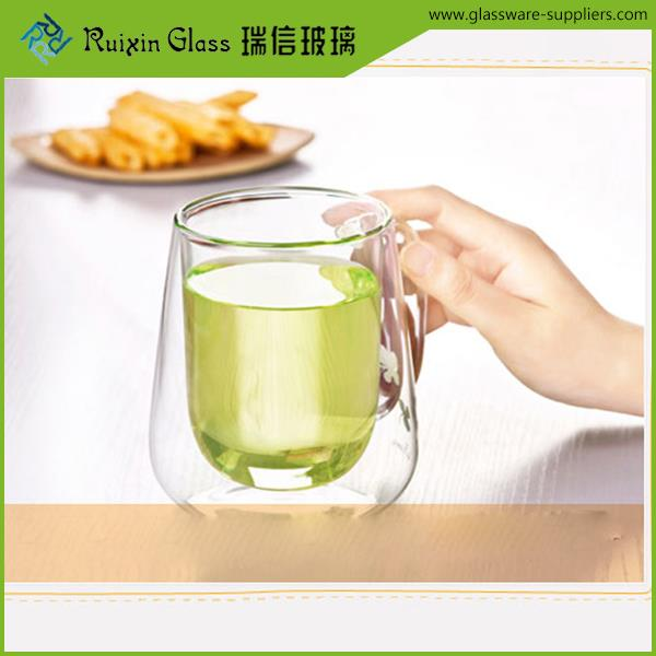 New arrival affordable double walled tea cups double layer drinking glass manufacturer