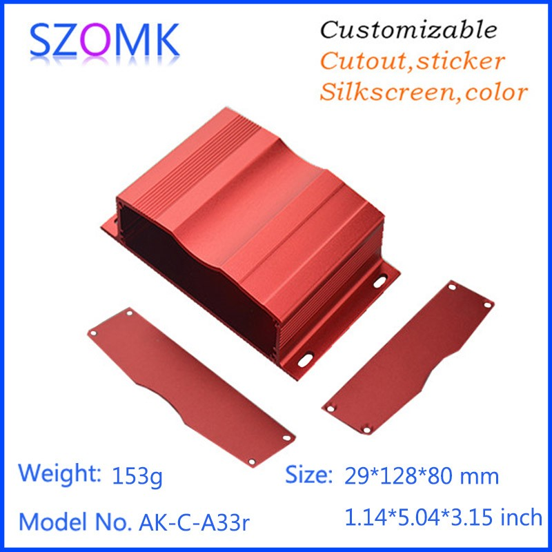 SZOMK extruded electrical aluminium distribution enclosures 29(H)x128(W)xfree(L) mm