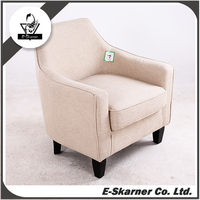 E-Skarner Single Person Seating Small Sofa in White PU fabric