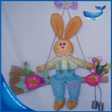Rabbit Shaped Easter Stick , Easter Bunny Decoration , Easter Straw Rabbit