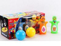 kid plastic human penguin bowling ball toy set