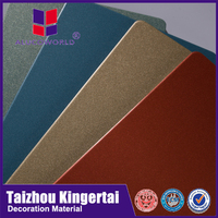 Alucoworld smooth surface light weight building materials from China aluminum facade acp made in dubai