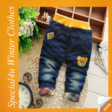 Children's clothing bear boys baby jeans children trousers new kid jeans SY-1163