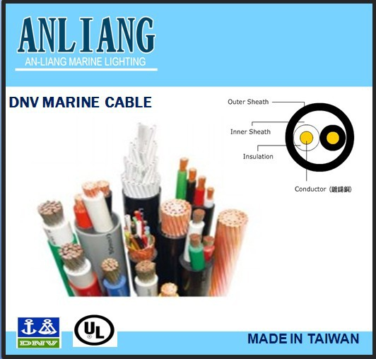 DNV/UL 2core 12.2mm PVC coated enameled underwater shipboard electrical copper wire