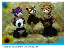 Wild animals Series custom plush panda/giraffe/red panda/bear