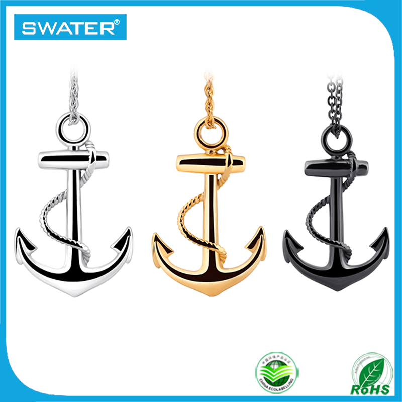 New 2016 Jewellery Men Stainless Steel Anchor Hip Hop Necklace