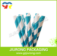 disposable retro blue and white stirped paper drinking straw vintage paper straw