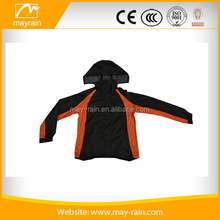 Men's cheap PVC water proof wind proof rain jacket