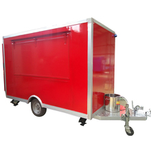 stainless steel 304 mobile 3 wheel food cart with CE