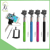 wired shutter remote Selfie stick/Wholesale Extendable Self Portrait Selfie Handheld Stick Monopod YM-PT16 Holder
