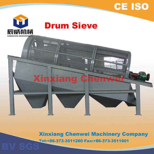 CW series high screening efficiency best price rotary gold trommel screen for sale