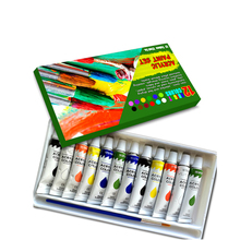 12 Heavy Body Acrylic Paint Set for Painting Canvas, Wood, Clay, Fabric, Nail Art, Ceramic & Crafts