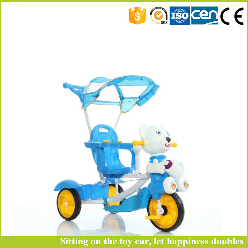 China kids car factory baby 3 wheel tricycle plastic tricycle with 360 degree rotation