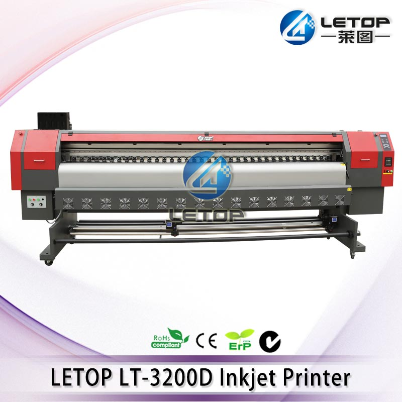 Brand new! LETOP LT-3200D 3.2M solvent flatbed inkjet printer using double DX5/DX7 heads