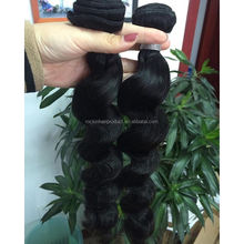 cheap human hair weft loosewave bundles indian unprocessed loose wave hair extensions