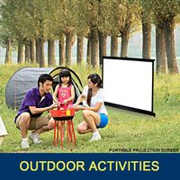 Portable mini outdoor fast fold view projector screen/multimedia projector screen