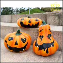 Custom outdoor garden landscape Halloween theme FRP resin pumpkin people sculpture