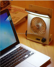 Wholesale summer cooling fan Portable Small solar powered usb fans With LED Lights