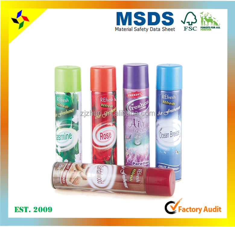 Fragrance air freshener manufacture