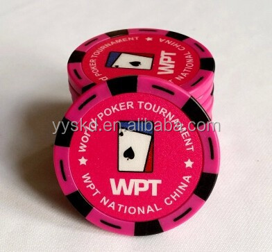 custom made clay strips CASINO poker chips with your denomination
