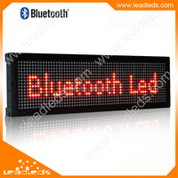 Alibaba Express Fast Delivery Bluetooth Led Sign P7.62 Red Color Indoor Led Display