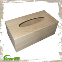 Tissue Box Cover, Tissue Holder, Unfinished Wooden Tissue Box
