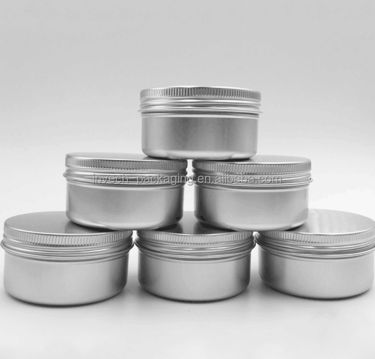 250ml canning jars screw lid can,aluminum screw top tins,decorative large candle tin can
