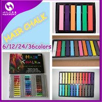 Inventory round and rectangle hair color chalk for dyeing hair/temporary hair chalk pen/color chalk for colorful hair dye chalk
