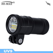 High power scuba diving wide angle underwater torch