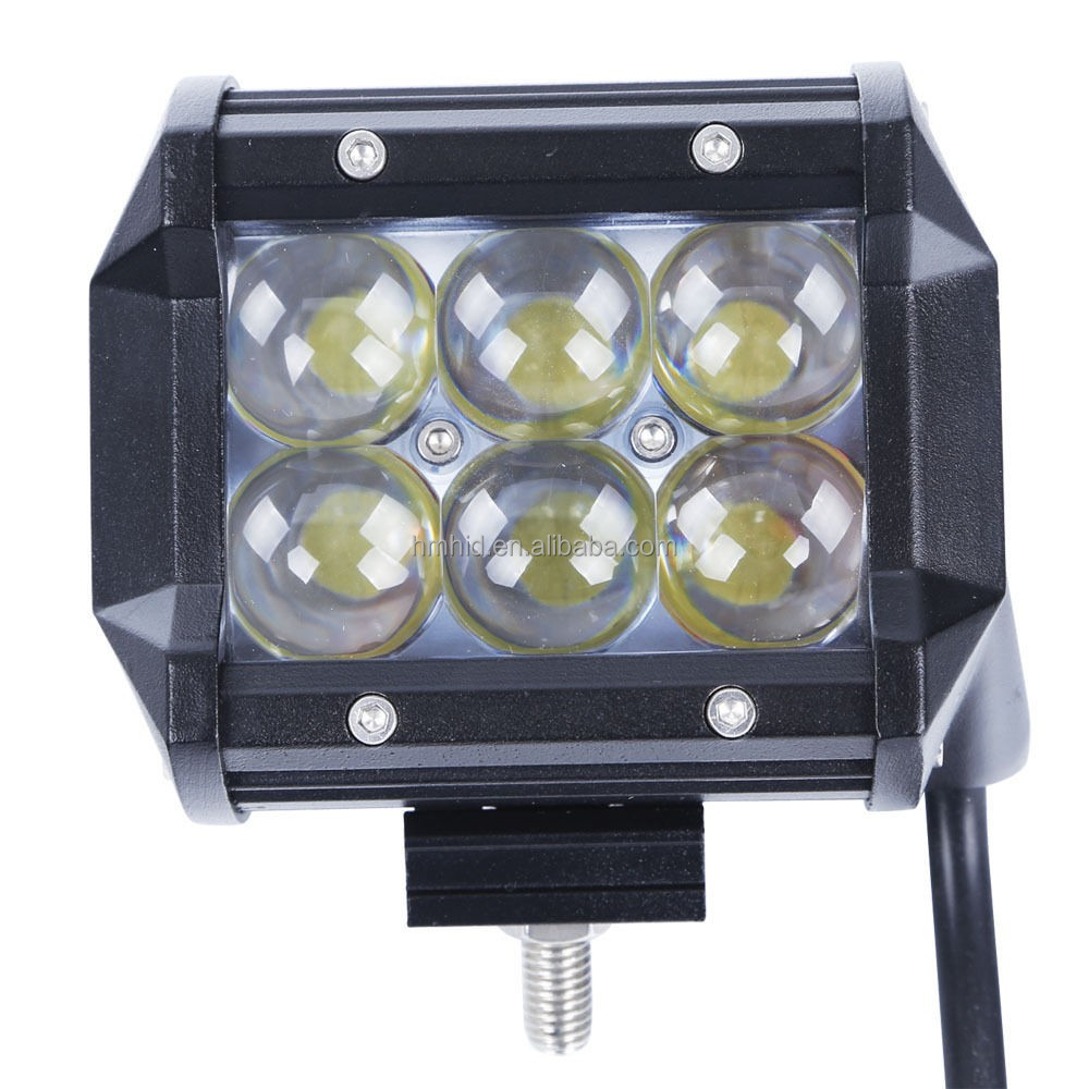 "4D Cree Led Work Light Bar 18W CREE 4"" LED Flood Driving Fog Lamp 4D Lens Truck 4x4 ATV SUV UTE"
