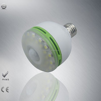 E27 B22 2835SMD Lamp sensor bulb LED Energy Saving Light Lamp Bulb 90-260v human body induction lamp