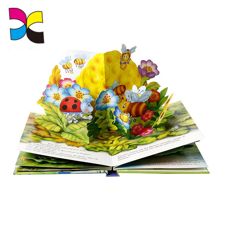 Custom printing children easy english 3d pop up cartoon animal story cardboard books
