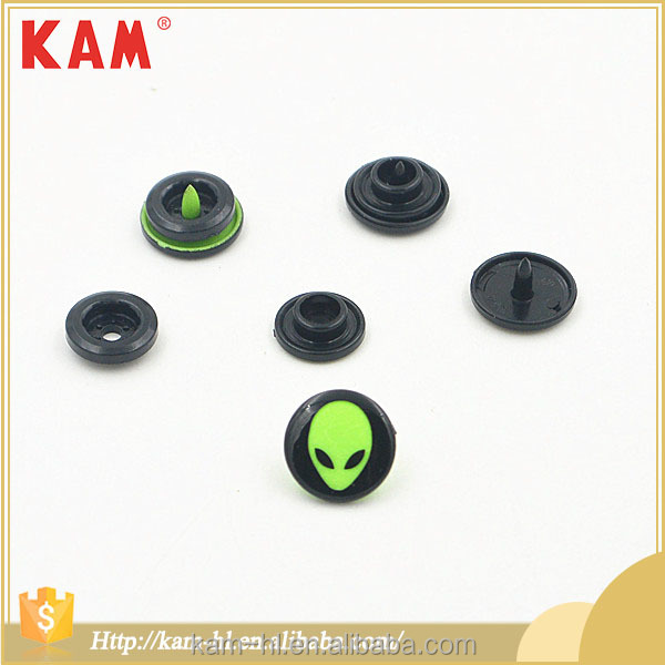 Popular custom garment accessories plastic button snap fasteners,custom logo snap button